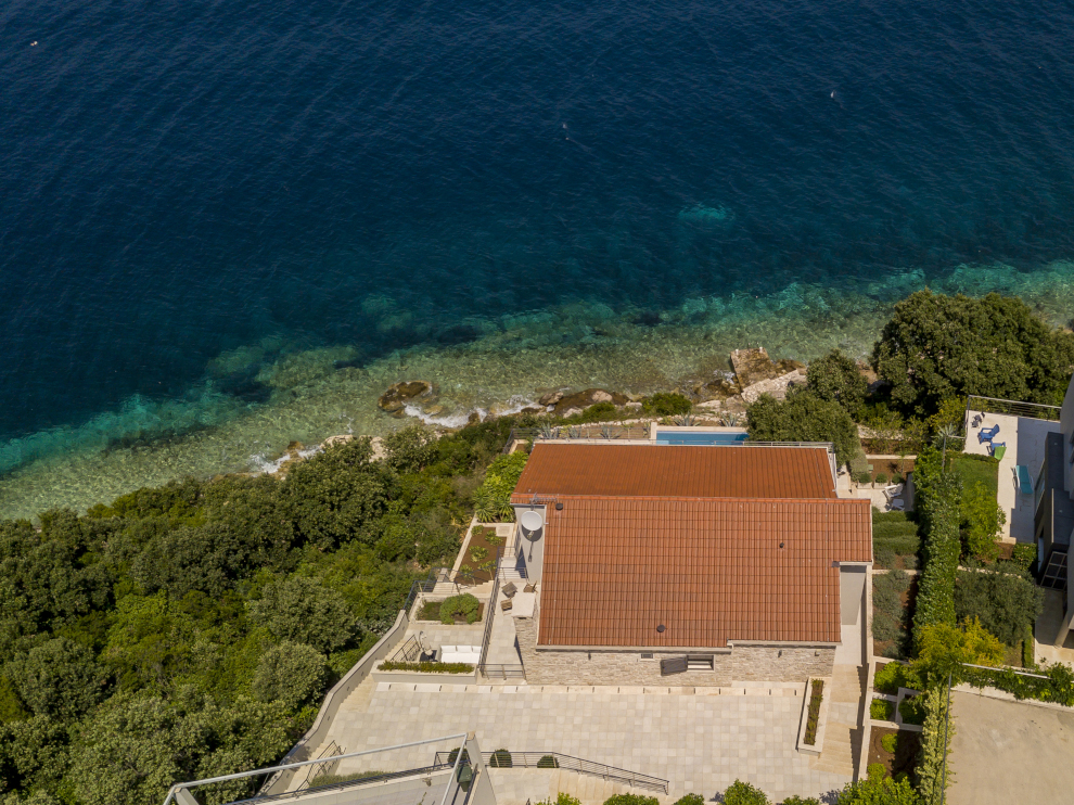 ariel view of house at angel
